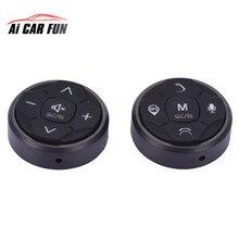2 шт. рулевого колеса автомобиля Управление DVD 10 кнопки универсального беспроводного Android gps-навигация Автомобильный руль кнопка дистанционного управления