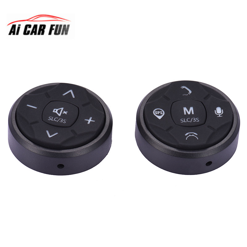 2pcs Car Steering Wheel Control DVD 10 Button Universal wireless android gps navigation Car steering wheel remote control button