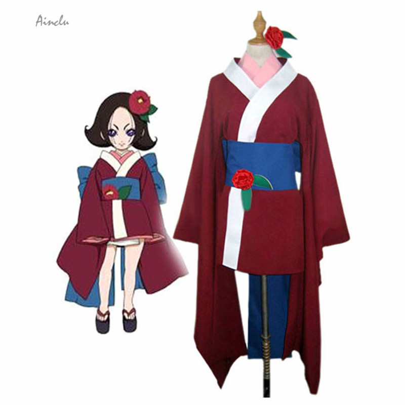 Ainclu Customize for adults Red Free Shipping Sakai Kanako from Hell Girl Halloween Cosplay Costumes For Adult and Kid Costume
