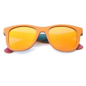 Image 4 - BerWer gafas de sol polarizadas de madera para hombre y mujer, lentes de sol de monopatín en capas, de madera, Estilo Vintage Retro