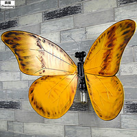 Творческий Винтаж железа Art водопровод лампа бабочка настенные светильники Декоративный Настенный светильник бар Холл ресторана проход E27