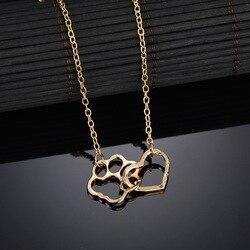 Moda simples estilo elegante requintado design gato garras padrão em forma de coração pingente sexy clavícula corrente colar feminino presente