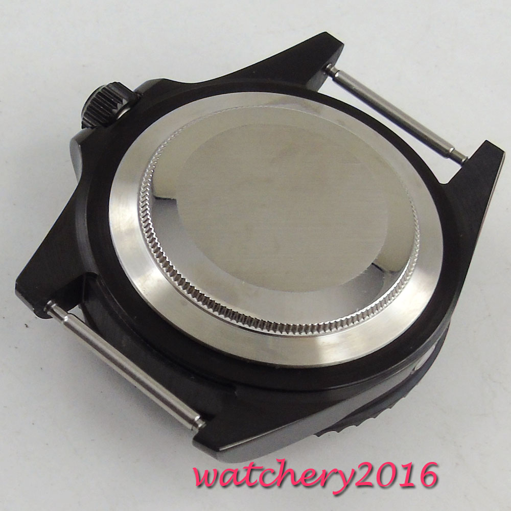 42mm PARNIS aluminum alloy bezel fit fit MIYOTA 8215 821A 8205 2836 automatic movement Watch Case-in Mechanical Watches from Watches    2