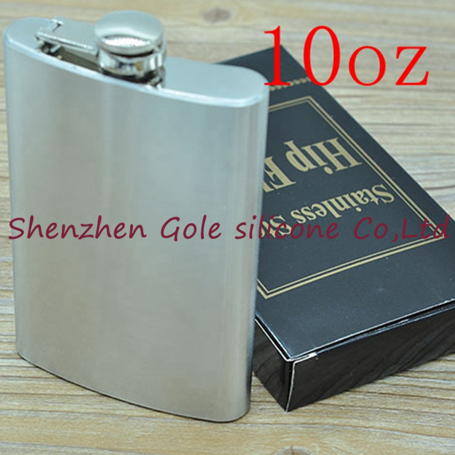 100pcs 10oz Stainless Steel Pocket Flask Russian Hip Flask Male Small Portable Mini Shot ...