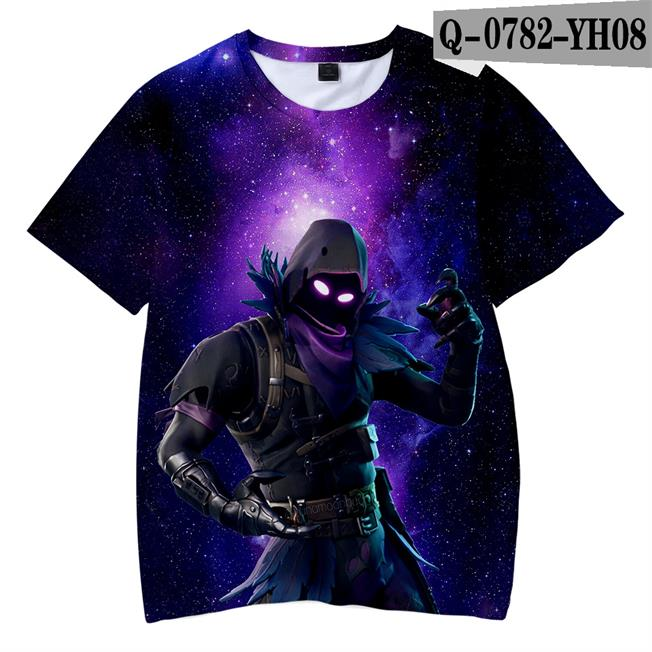 3-14Years 2019 T Shirt 3d Print T-shirt XXXTentacion Full Colored T-shrits Short Sleeves Boys Tops Battle Royal Nova(China)