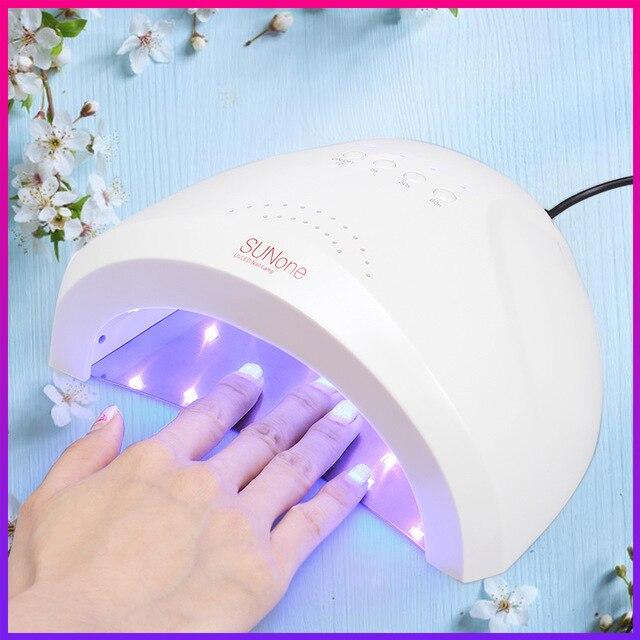 SUNone UV Lamp 48 W/24 W LED Nail Lamp Nail Dryer Gel Polish Droger Vingernagel Teennagel Gel Curing nails Art Painting Salon Gereedschap