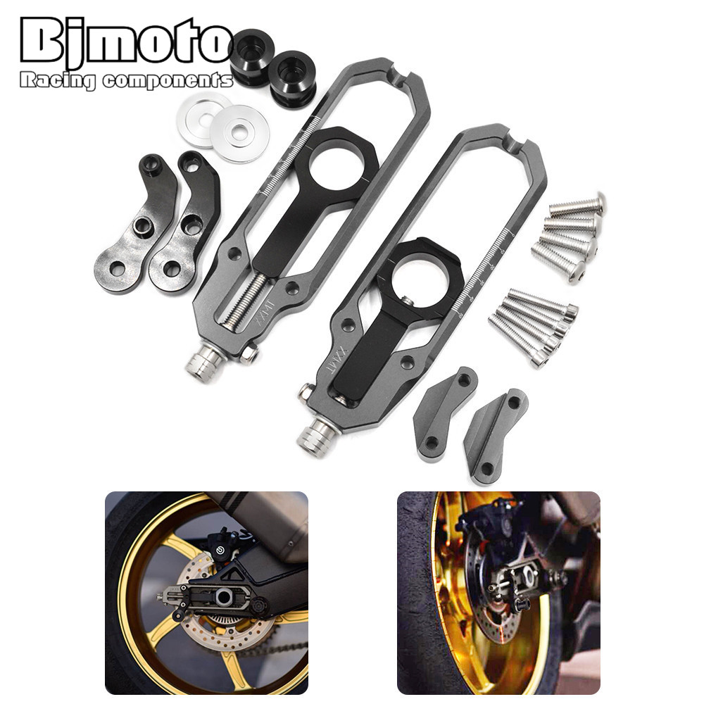 CA-BM001 Motorcycle CNC Rear Axle Spindle Chain Adjuster Blocks For BMW HP4 12-14 S1000R 13-15 S1000RR 09-15  Free Shipping