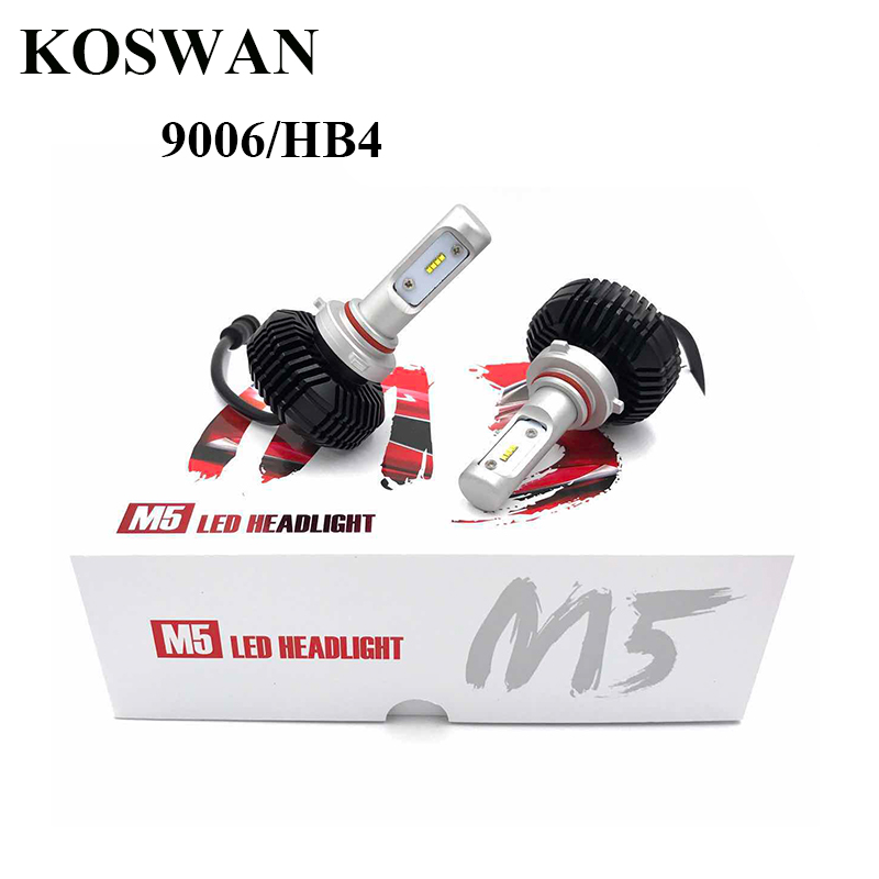 ФОТО New Technology All-in-One LED Headlight Conversion Kit 9006/HB4 LED Headlamp Bulb 32W 5600LM x2 High Power LED Headlight 9006 M5