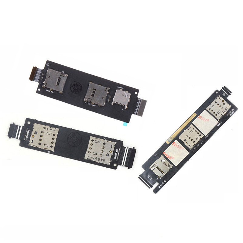 Sim Card Connector Slot Socket Holder Reader Flex Cable For ASUS Zenfone 2 ZE550ML 5 A500CG A501CG A500KL 6 A600CG A450CG Zoom
