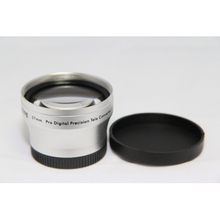 Skilled Lens Replacemnt 37mm 2.0x TELE Telephoto Lens for Camcorder 37 mm 2x Silver with Lens Cap and Mushy Lens Bag