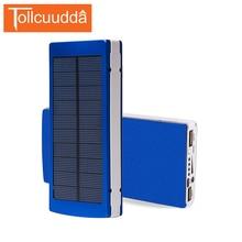Tollcuudda 16000 MAH Solaire Power Bank haute Capacité Solaire Chargeur externe Batterie Double USB portable chargeur de téléphone avec LED lumière