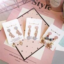 Korea Handmade Cartoon Bear Elephant Rhinestone Women Drop Earrings Dangle Fashion Jewelry Accessories-JQD5