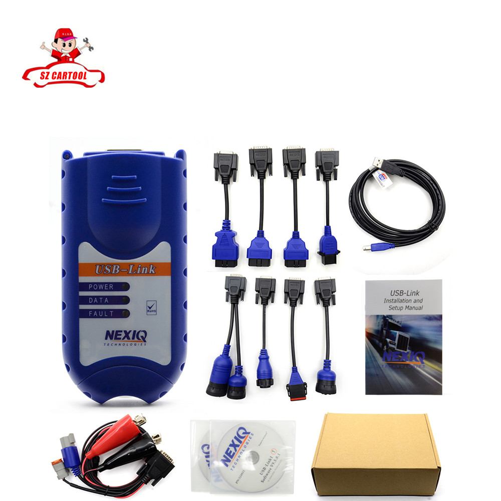DHL Free 2017 NEWEST 4CD NEXIQ 125032 USB Link + Software Diesel Truck Diagnose NEXIQ USB Link with All Installers Nexiq ON SALE