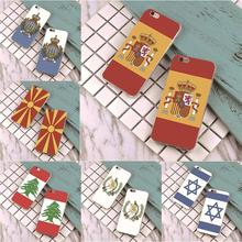 The Kingdom of Spain national flag Cover case for iphone 4s 5 5s 5c 6 6s 7 plus samsung galaxy S3 S4 S5 S6 S7 edge g9350