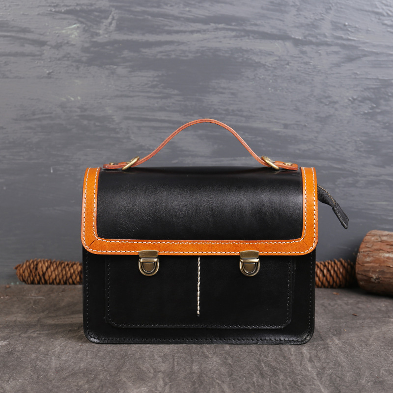 Europe and American Style Fashion Color Matching Women Genuine Leather Handbags First Layer Cowhide Bag Ladies New Shoulder Bags zooler lady handbag women cowhide leather handbags europe and america style genuine leather bags fashion menssenger shoulder bag