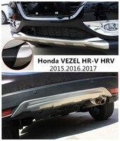 Honda VEZEL için HR-V HRV 2015.2016.2017 TAMPON KORUMA tampon plaka Yüksek Kalite Paslanmaz Çelik Ön + Arka Oto Aksesuarları
