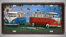 1 pc Van summer surfing Beach vacation plaques Tin Plates Signs Brussel wall man cave Decoration Metal Art Vintage Poster