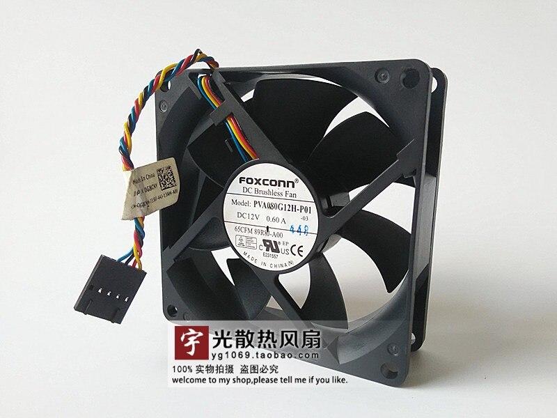80MM Fan PVA080G12H-P01 80x80x25 MM DC 12V 0.6A 89R8J-A00 FOR DELL optiplex 9020 xe2 89R8J t1700 fan