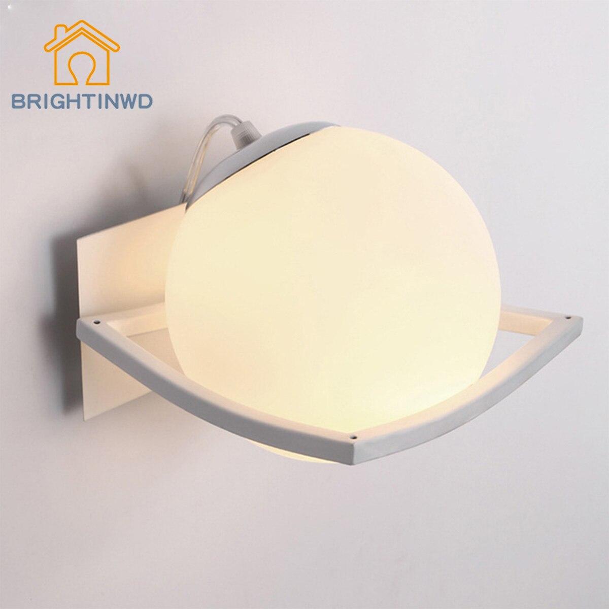 Brightinwd Творческий Спальня стены светодиодный гальваническим Стекло ночники Гостиная Спальня шар настенный светильник
