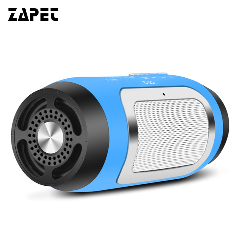 ZAPET Portable Wireless Bluetooth Speaker Stereo HIFI Music Speaker with TF Card FM Radio Music Subwoofer Column Speakers
