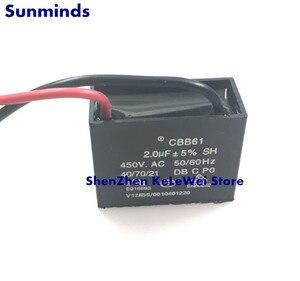 Image 1 - 2 adet CBB61 fan başlangıç 450V 2.0UF 2UF 450VAC