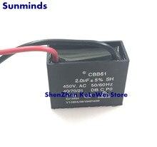 2 sztuk CBB61 wentylator początek 450V 2.0UF 2UF 450VAC