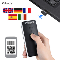 Aibecy Barcode Scanner Wireless USB Wired 1D 2D Image Bar Code Scanner QR PDF417 Bar Code Reader 130,000 Inventory Memory