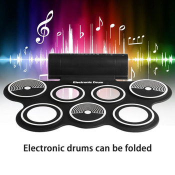 TSAI Electronic Drum Digital USB Desktop Portable Roll Up Musical Instrument Hi-hat And Snare Drum Pads For Kids Adults popular