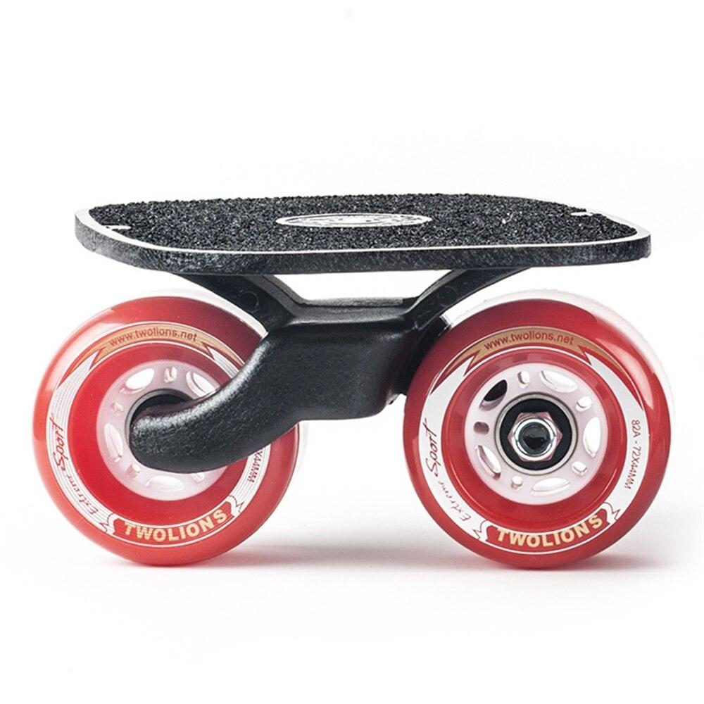 SPORTSHUB 1 paire planche à roulettes dérive planche pour rouleau route dérive plaque antidérapant Skateboard sport métal pédale roues en polyuréthane O2K0013 - 2