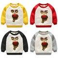 Bebé de la camiseta 2016 muchachos del invierno niño bereber de lana engrosamiento superior wt-6712