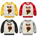 baby sweatshirt 2016 winter boys child berber fleece thickening top wt-6712
