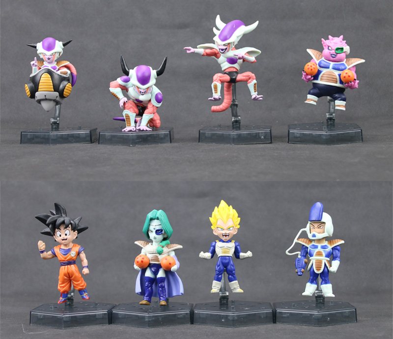 "8 st Frieza Freeza Frys 3 Ver. Zarbon Dodoria Soldier Son Goku Vegeta Classic Anime Comic Dragon Ball Z 4 ""Action Figur"