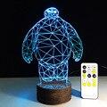 Tocar a Luz LED Big Herói 6 2016 Atmosfera De Festa de Aniversário Decoração Figurinhas Candeeiro de Mesa Brinquedos 3d Led