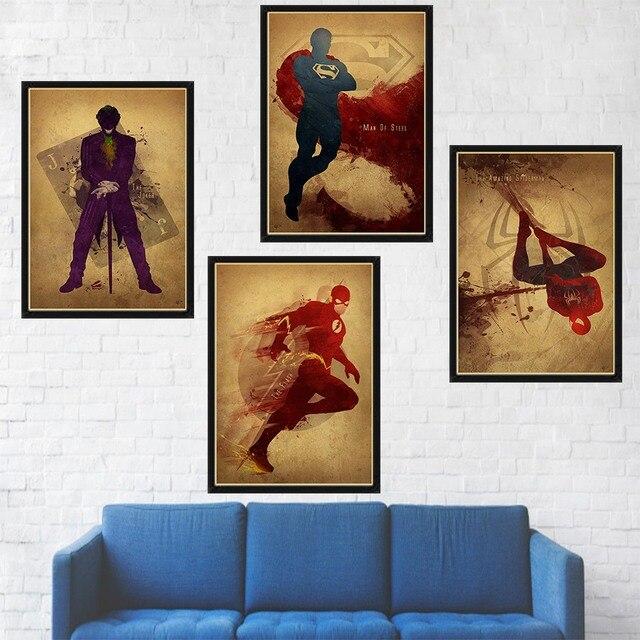 Superheroes poster wall art