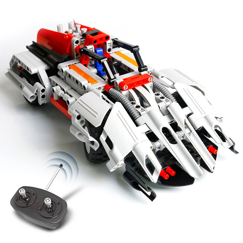 29cm 2in1 transform Car DIY Assemble RC Car Building Blocks Big Bricks Toys Birthday gifts Educational Toy for Kids girl boy kaygoo 109 challenger 3 in 1 robots building block 229pcs abs small particles toy challenger assemble toy boy gift big size