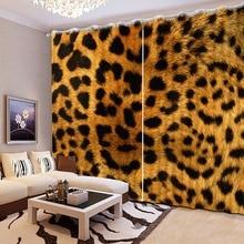 Современные китайские Роскошные 3D затемненные леопардовые шторы для постельных принадлежностей гостиная комнатные шторы отель Cortinas De Sala CL-DLM757