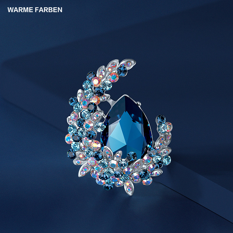 Warme Farben 2018 New Arrival Women Sweater Brooches Crystal From Swarovski Classic Zircon Wedding Brooches Jewelry for LadyWarme Farben 2018 New Arrival Women Sweater Brooches Crystal From Swarovski Classic Zircon Wedding Brooches Jewelry for Lady