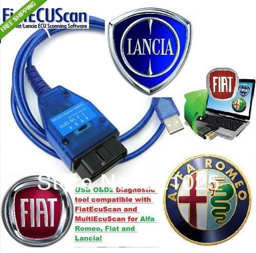 VAG KKL FIAT LANCIA ALFA OBD2 COMPATIBLE FIATECUSCAN+CD