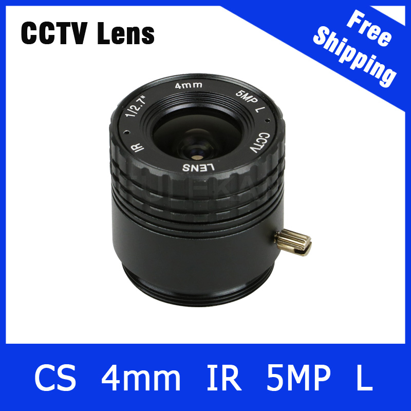5Megapixel Fixed CS Mount Lens 1/2.7 Inch 4mm For OV4689/OV5658 1080P/3MP/4MP/5MP IP camera or AHD/CVI/TVI Camera Free Shipping 3megapixel fixed m12 cctv lens 1 2 5 inch 3 6mm for ov2710 ar0230 720p 1080p ip camera or ahd cvi tvi cctv camera free shipping