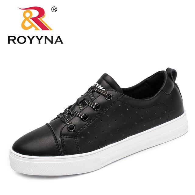 a54535a9 Royyna nuevos clásicos mujeres estilo sneakers Zapatos microfibra Femme  Flats plataforma feminino sapato Encaje up señora ocio Zapatos