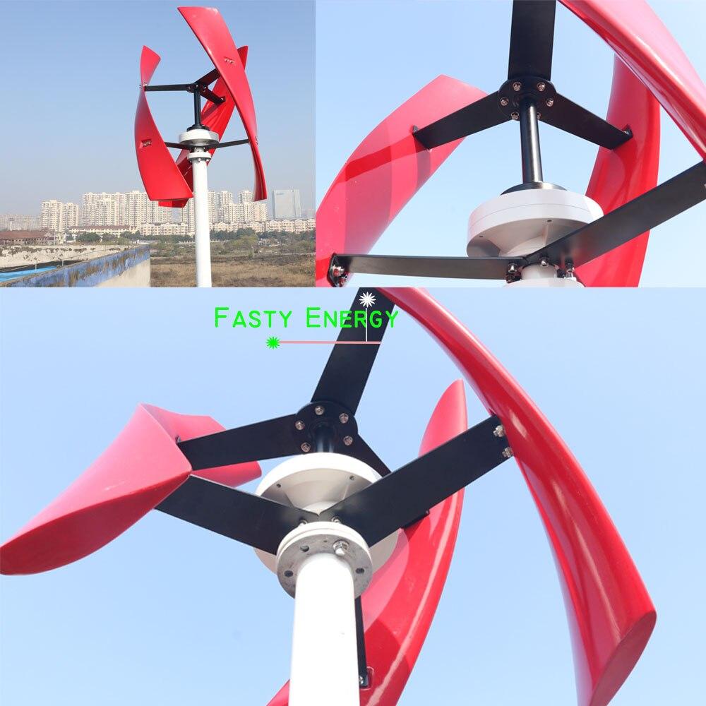 300w 600w 1kw 12 v/24 v/48 v 96v axe vertical permanent maglev éolienne générateur MPPT contrôleur énergie libre haute efficacité - 4