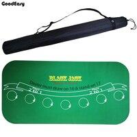 Высококачественный 180*90 см замшевый резиновый черный Джек 21 балл Baccarat казино Texas скатерть для покера зеленый стол коврик настольная игра тка