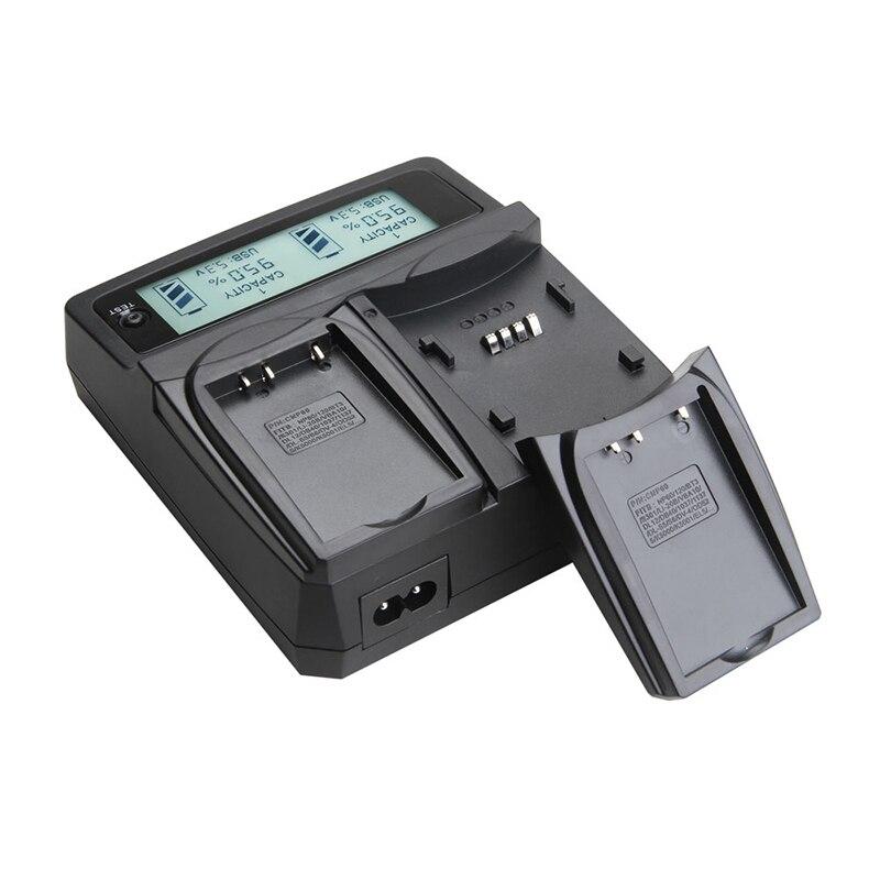 Udoli LP-E12 LPE12 LP E12 batterie double chargeur avec adaptateur voiture écran LCD pour CANON EOS M M2 M2 (W) 100D rebelle SL1 Kiss X7 EOSM