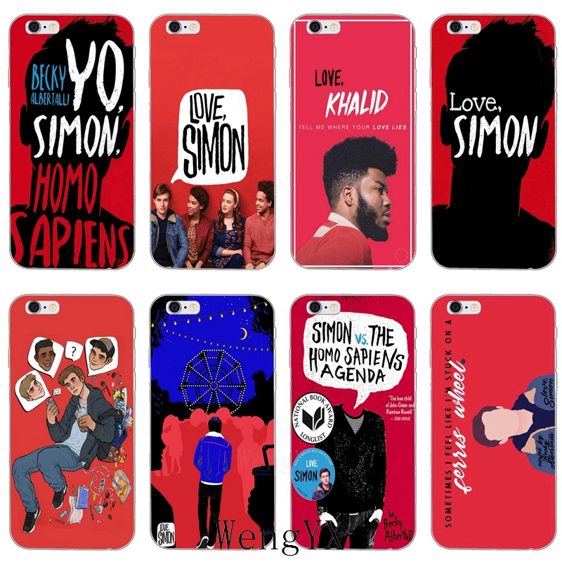 gay movies The love simon slim Ultra Thin TPU Soft phone cover case For iPhone 4 4s 5 5s 5c SE 6 6s 7 8 plus X XR XS Max image
