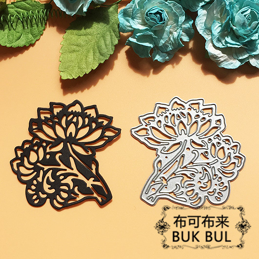 Lotus Flower Metal Cutting Dies Stencils For Diy Fustella