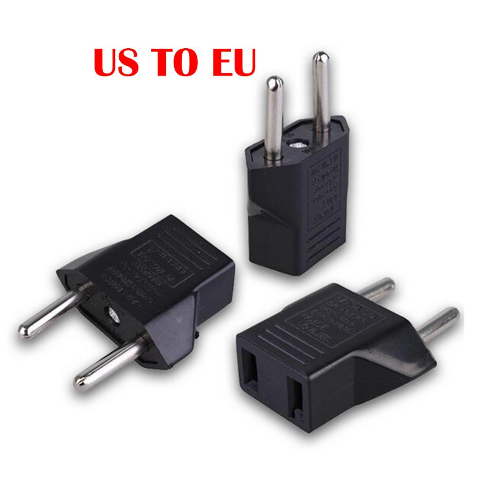 5 Pieces/lot EU Power Adapter Plug 6A USA To Euro Europe Wall Power Charge Outlet Sockets US 2 Flat Pin To EU 2 Round Pin Plug