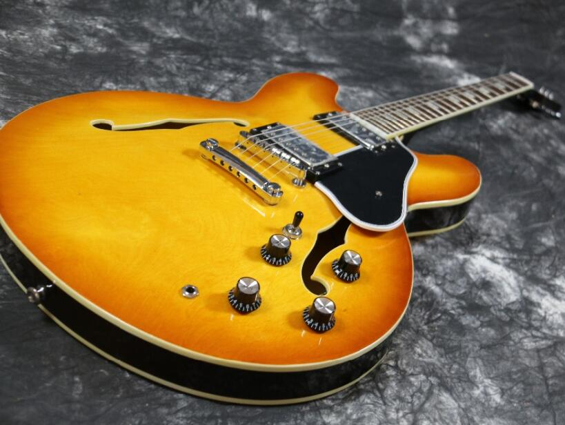 Semi Hollow Body Amber Jazz ES 335 325 345 electric guitar Guitarra all color Accept body solid ghyp 345