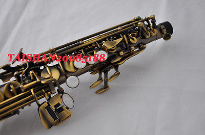 Copy 95% Custom Mark VI Soprano Saxophone Vintage Black Unlacquered Saxophone Instruments B Flat Sax With Case Brass