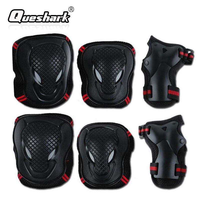 6Pcs/Set Ski Knee Pads & Elbow Pads Kidswomen Men Skating Skateboard Sports Safety Knee Wraps Hand Guard Brace Protector Gear цена