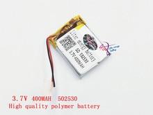 3.7V lithium polymer battery 502530 052530 400MAH Liter energy battery MP3 stereo Bluetooth little point reading pen